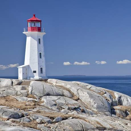 Leuchturm in Peggys Cove, Nova Scotia