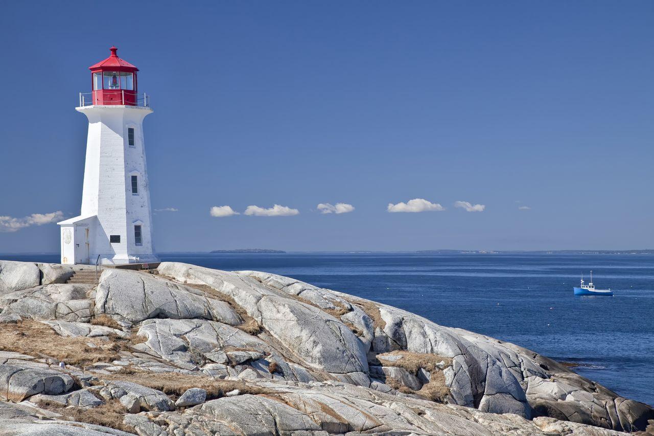 Leuchturm in Peggys Cove, Nova Scotia