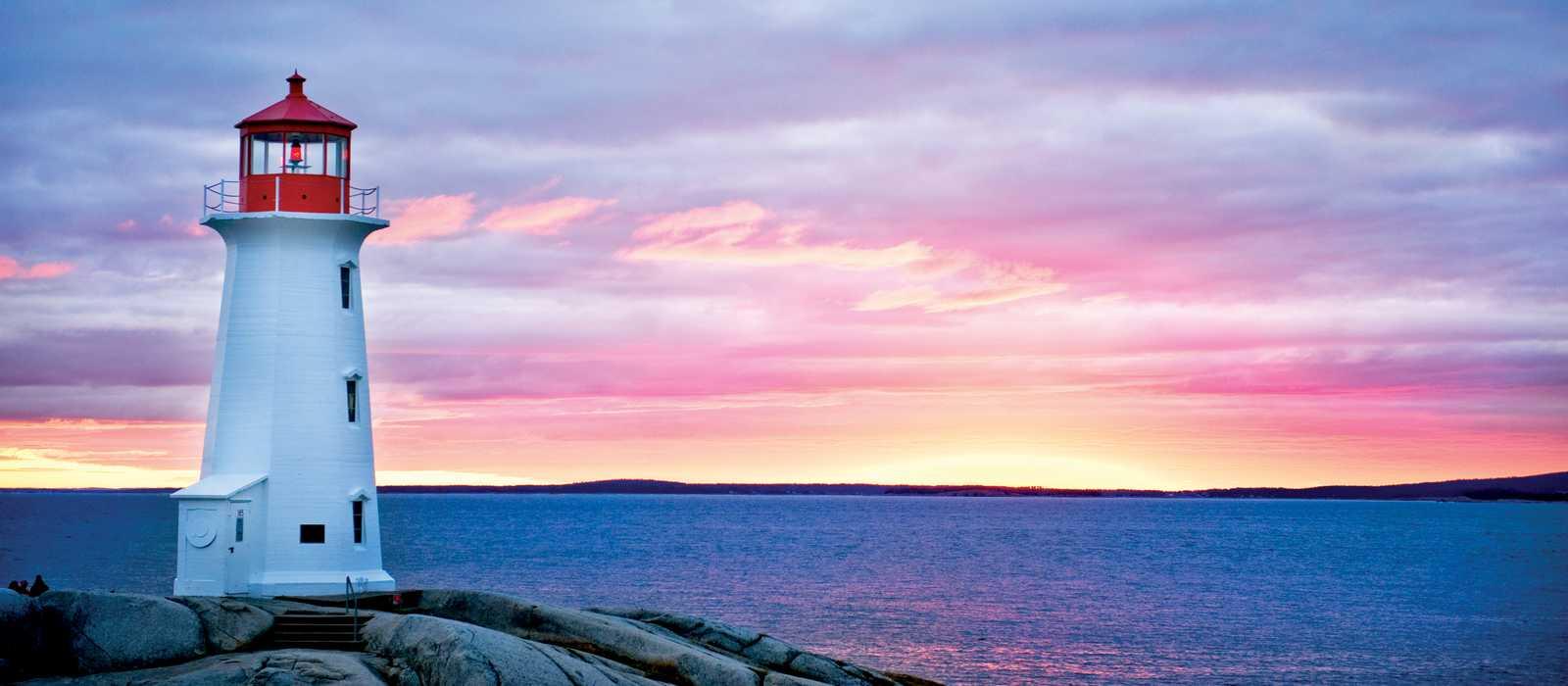 Sonnenuntergang an Peggys Cove