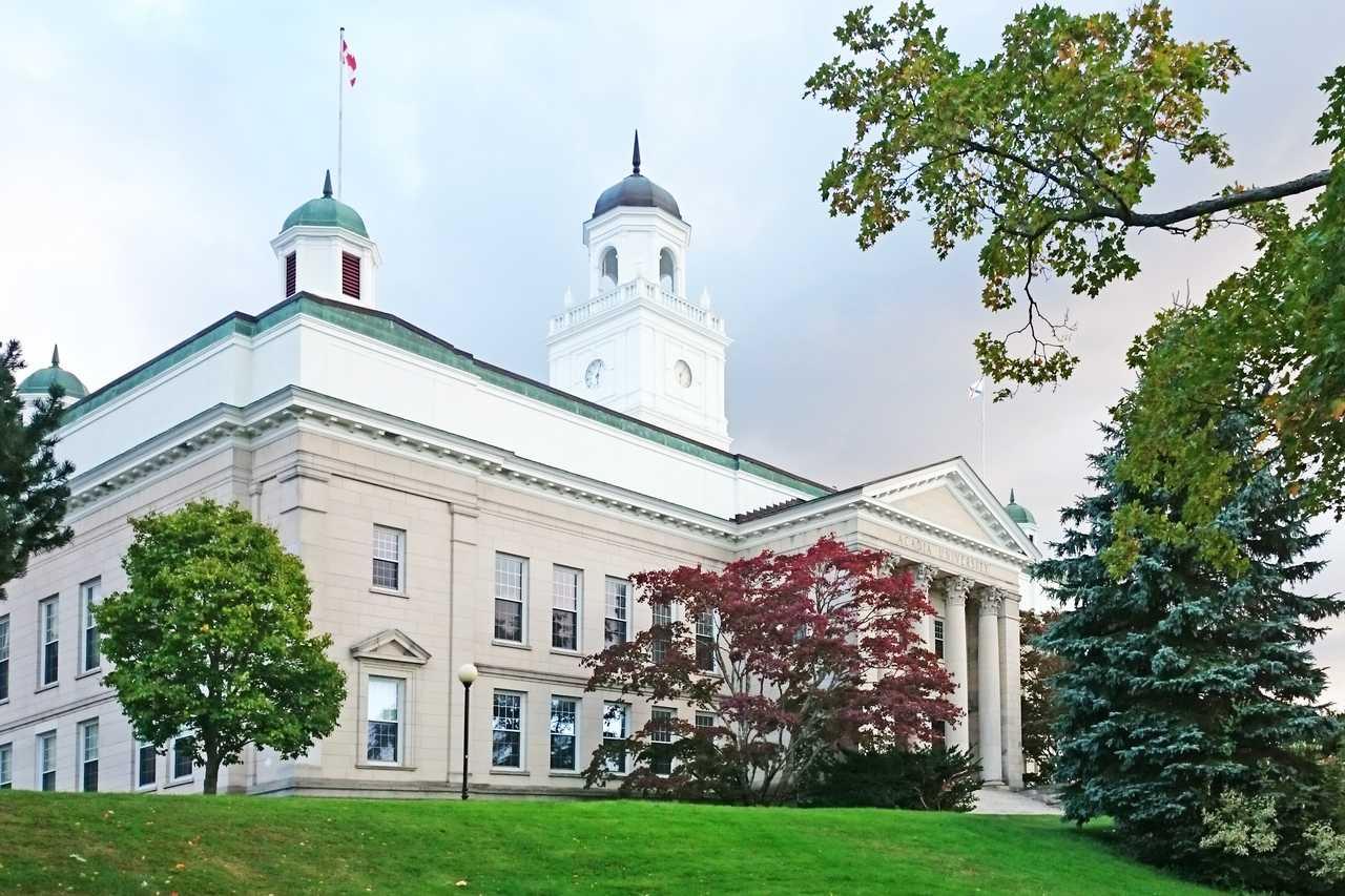 Die Acadia University in Wolfville im Annapolis Valley, Nova Scotia
