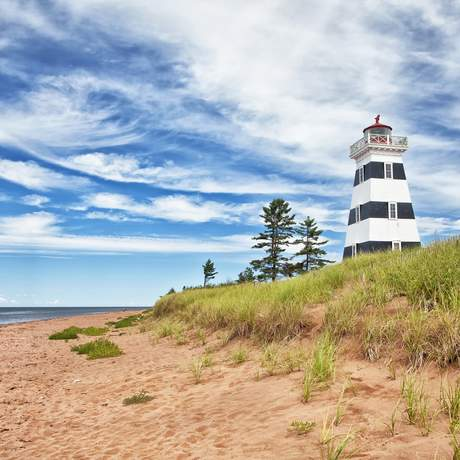 Leuchtturm in West Point, Prince Edward Island