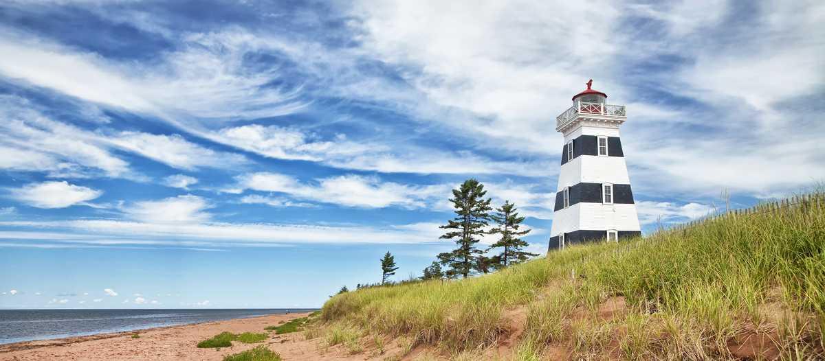 Leuchtturm in West Point, Prince Edward Island