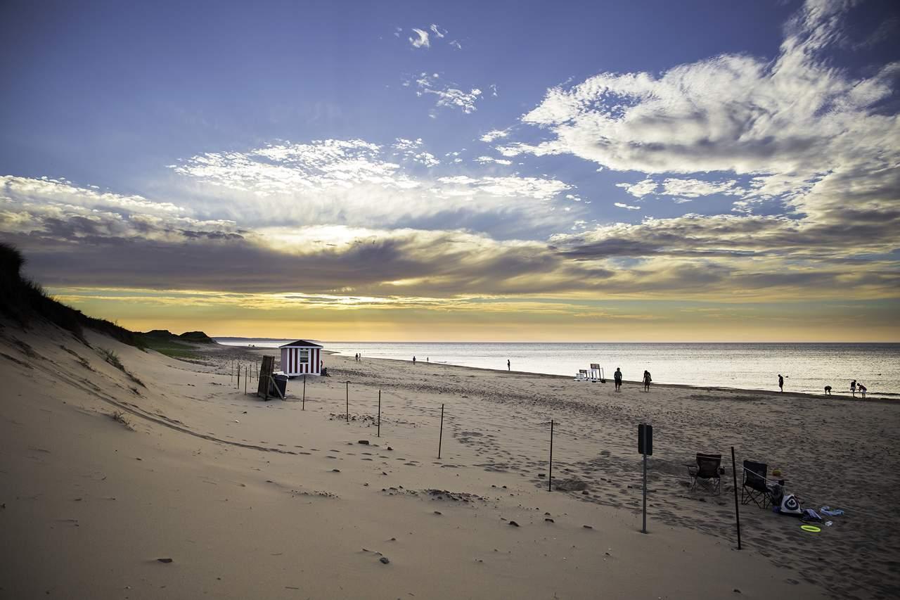 Sonnenuntergang am Strand von Cavendish