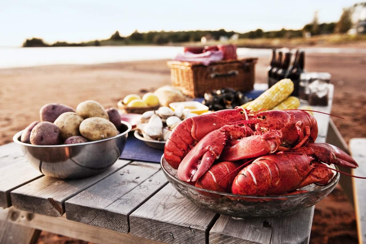 Lobster die Spezialität in Atlantik Kanada