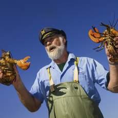 Lobster fisherman Norm Peters, Ãââ,¬â»¢The Bearded SkipperÃââ,¬Å« of Rustico, Prince Edward Island, Canada.