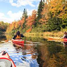 Kayaking in autumn colours
