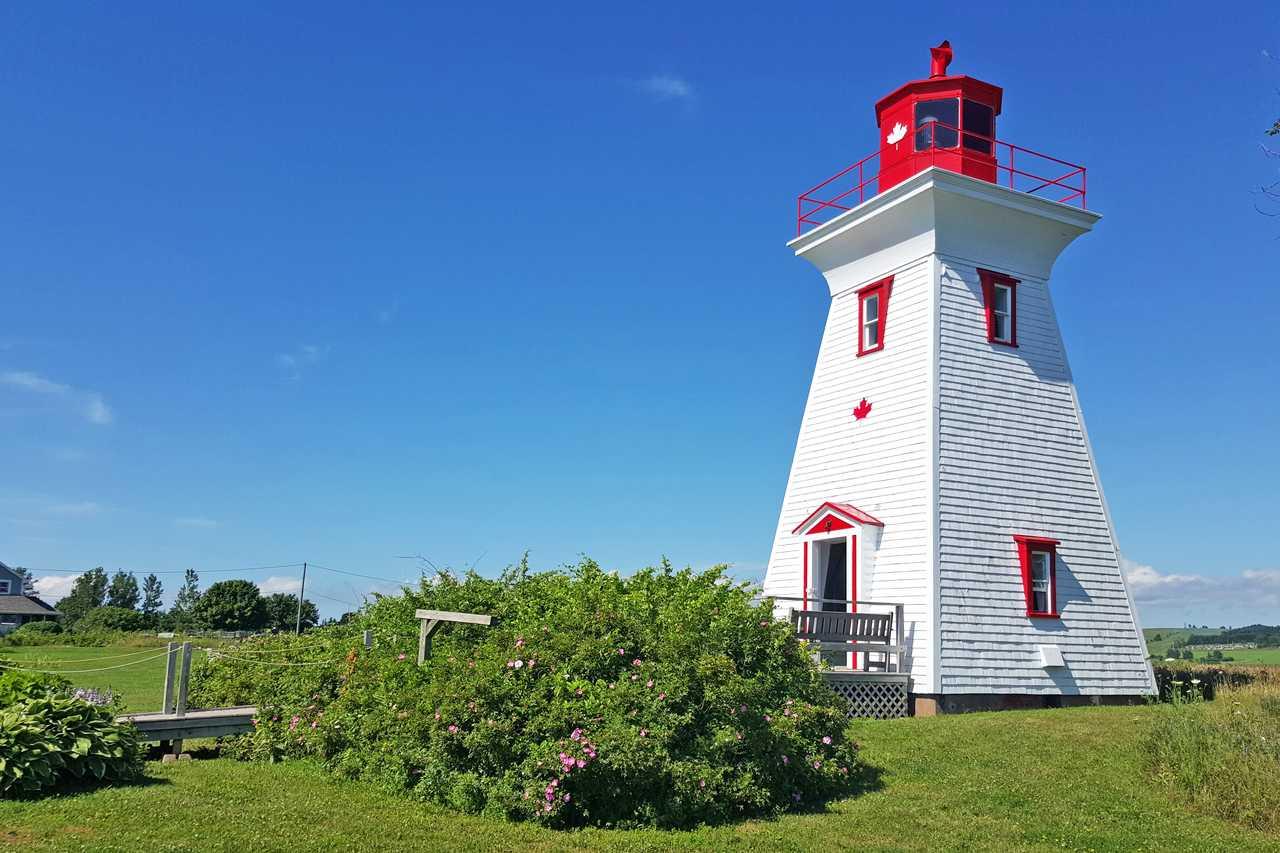 Leuchtturm in Victoria by the Sea auf Prince Edward Island