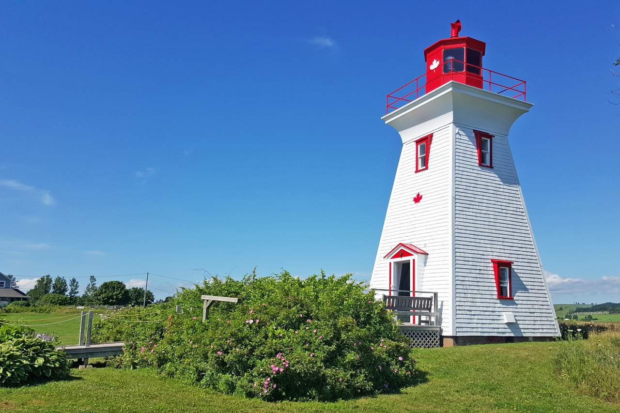 Leuchtturm in Victoria by the Sea auf Prince Edward Island