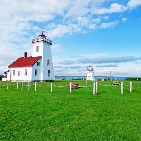 Wood Islands Leuchtturm auf Prince Edward Island