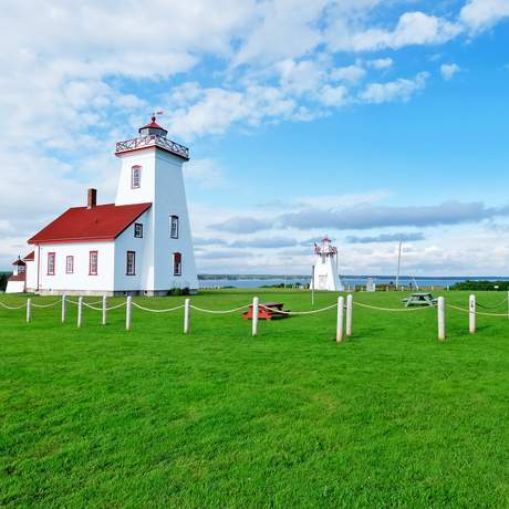Wood Islands Leuchtturm auf Prince Edward Island