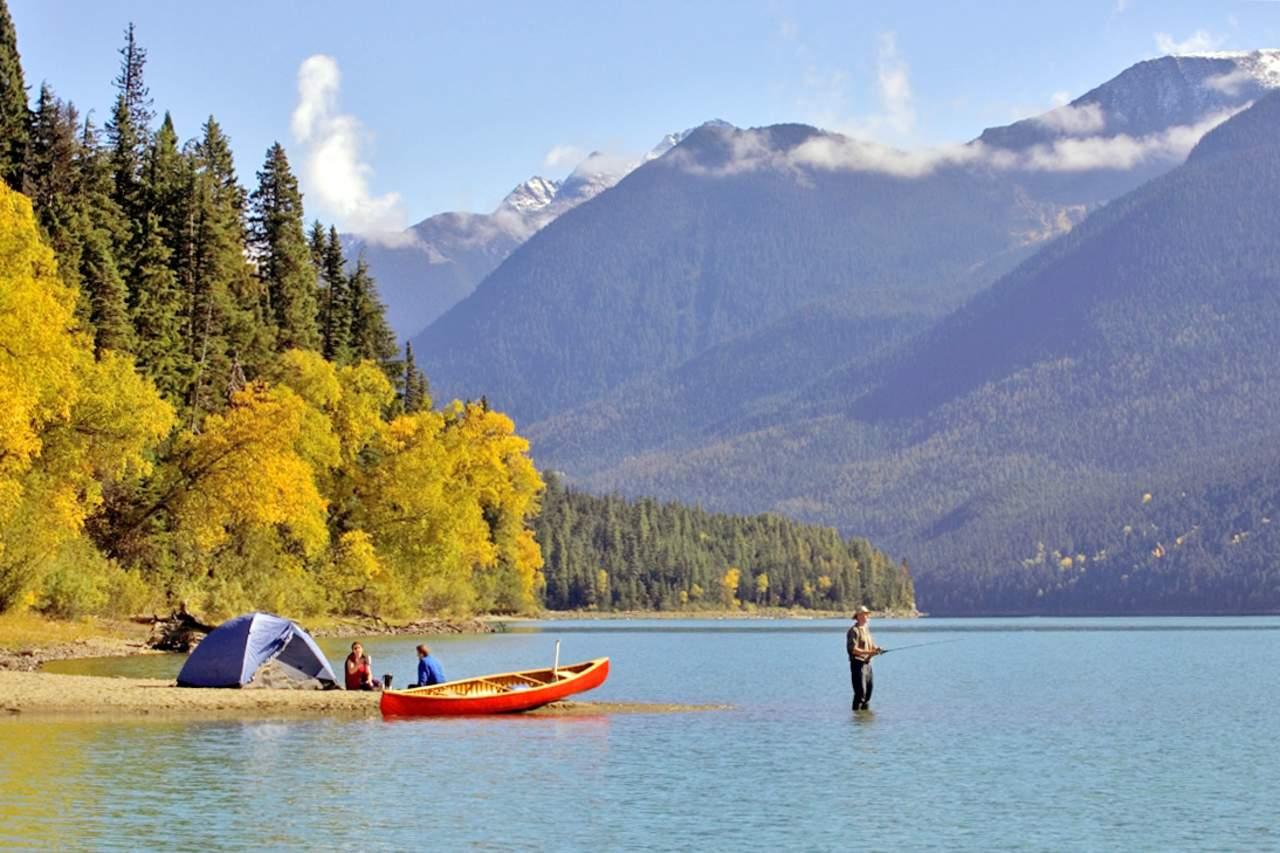 Zelten am See