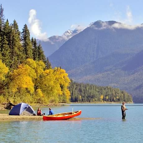 Zelten am Lanezi Lake