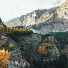 Blick auf den Seton Lake in British Columbia