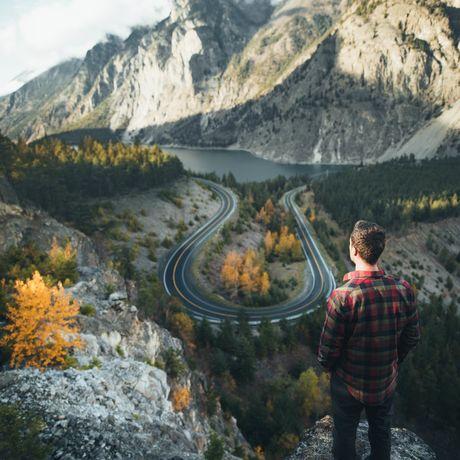 Blick auf den Seton Lake in British Columbia