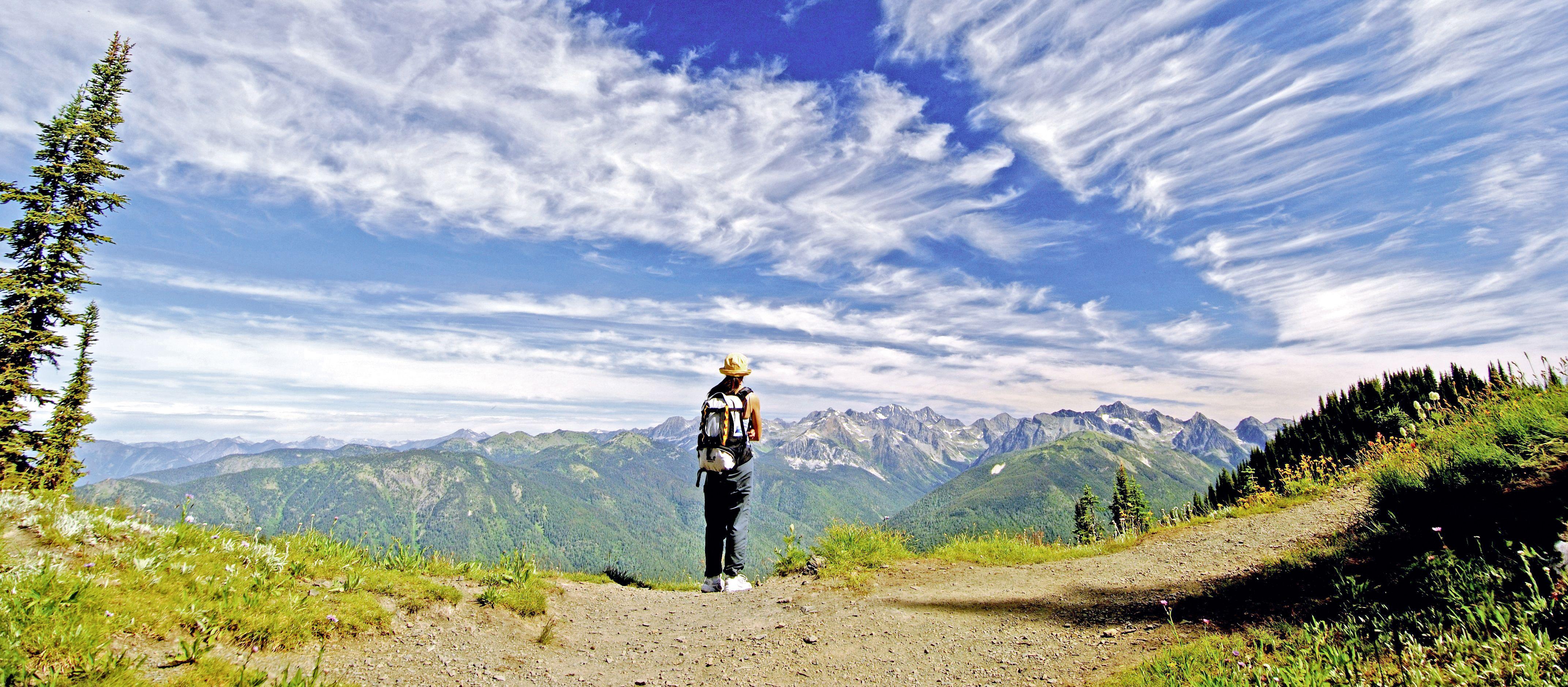 Wanderer in den Selkirk Mountains