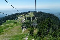 Ein Sessellift über dem Grouse Mountain in Vancouver