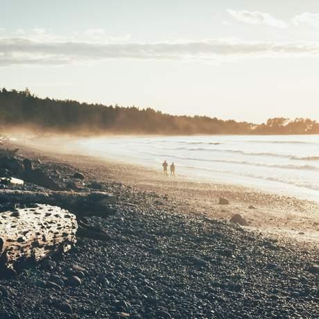 Agate Beach auf Haida Gwaii, British Columbia