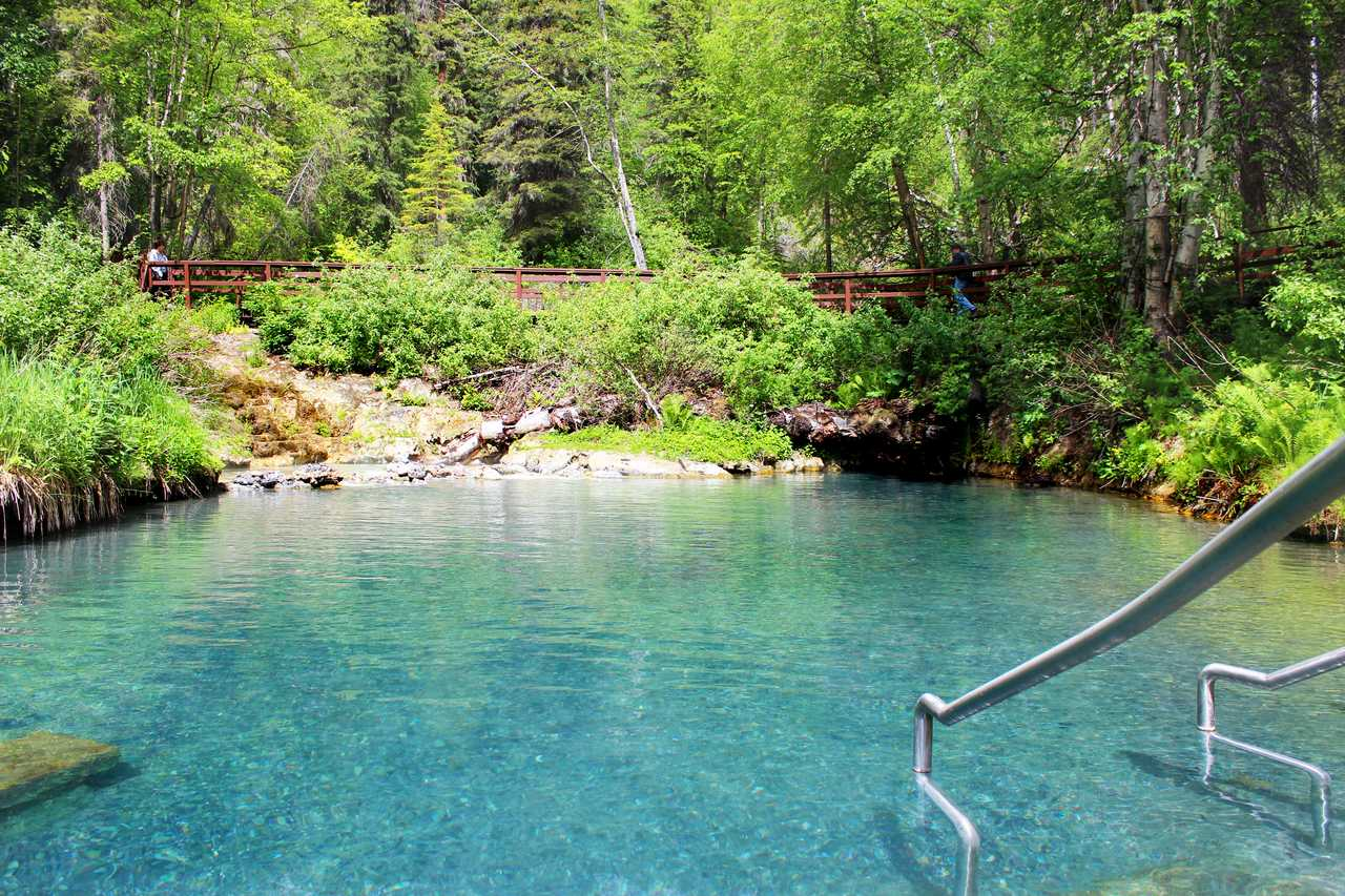 Liard River Hot Springs Provincial Park in British-Columbia