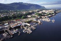 Prince-Rupert-Seehafen aus der Luft