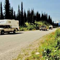 Mit dem Truck Camper durch den Mount Revelstoke National Park