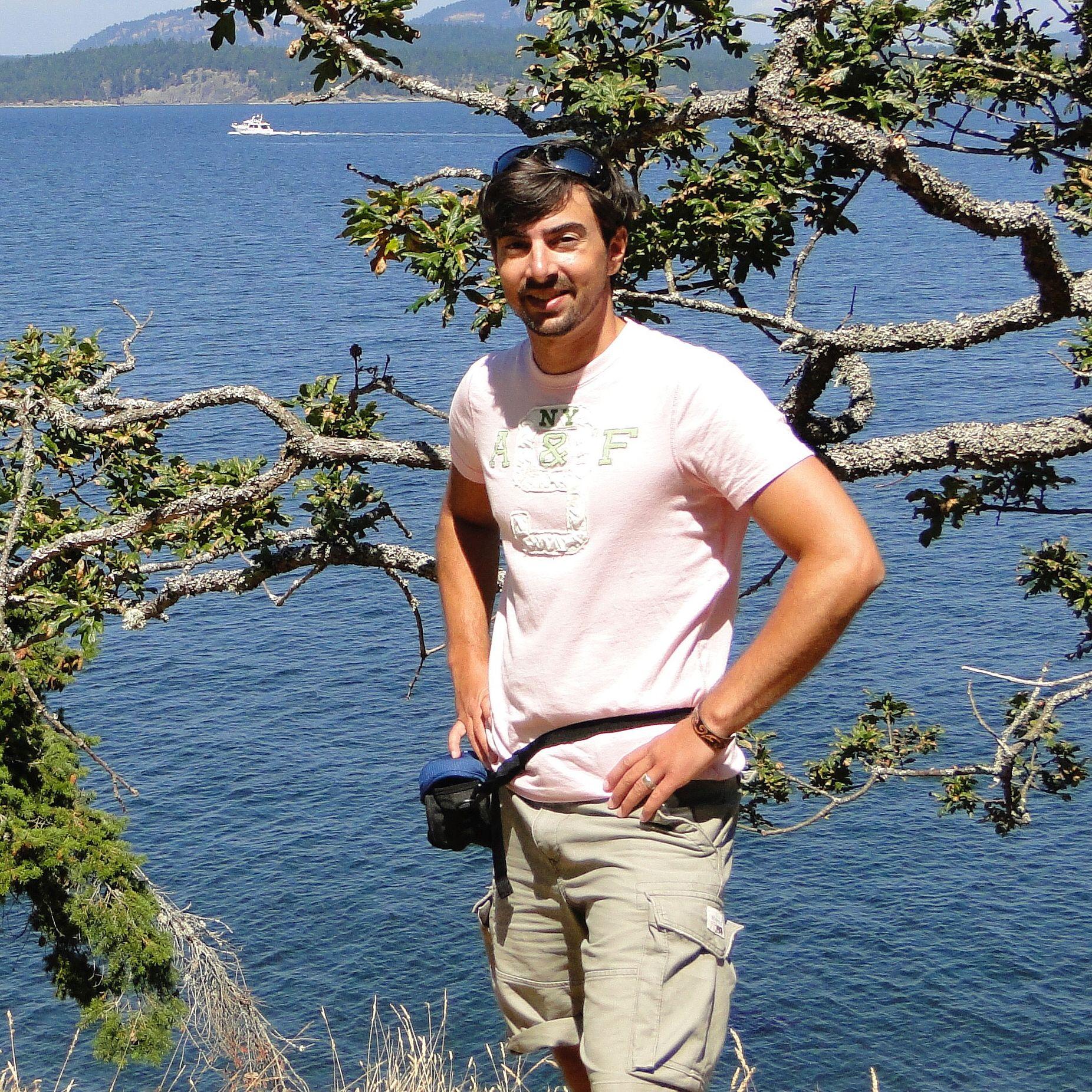 Kolja auf der Insel Salt Spring Island, British Columbia