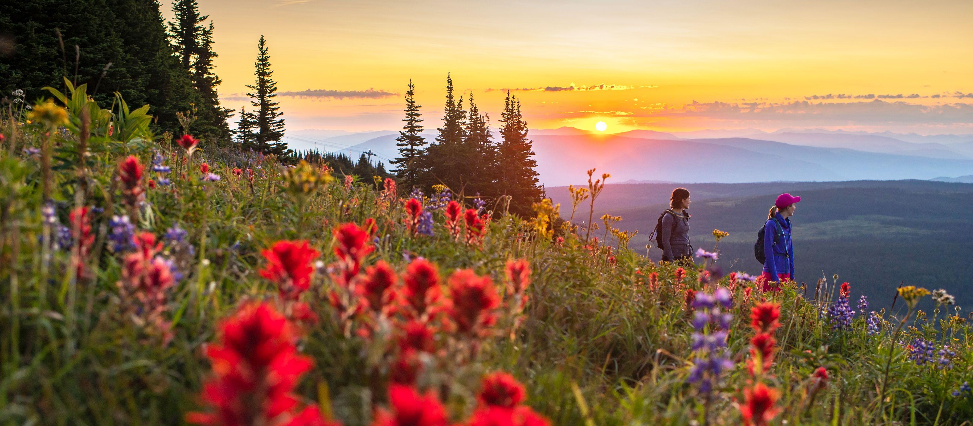 Sonnenuntergang über Sun Peaks, Britisch Kolumbien
