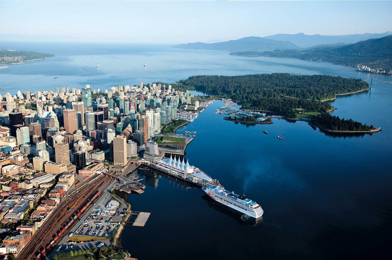 Vancouver aus der Luftperspektive