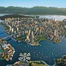 Blick ueber Vancouver