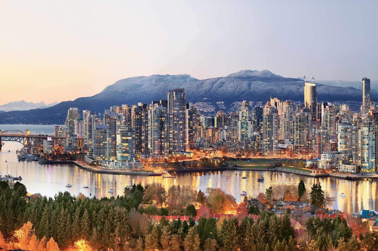 Vancouver in der Dämmerung