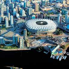 Blick auf die Stadt mit BC Place Stadium