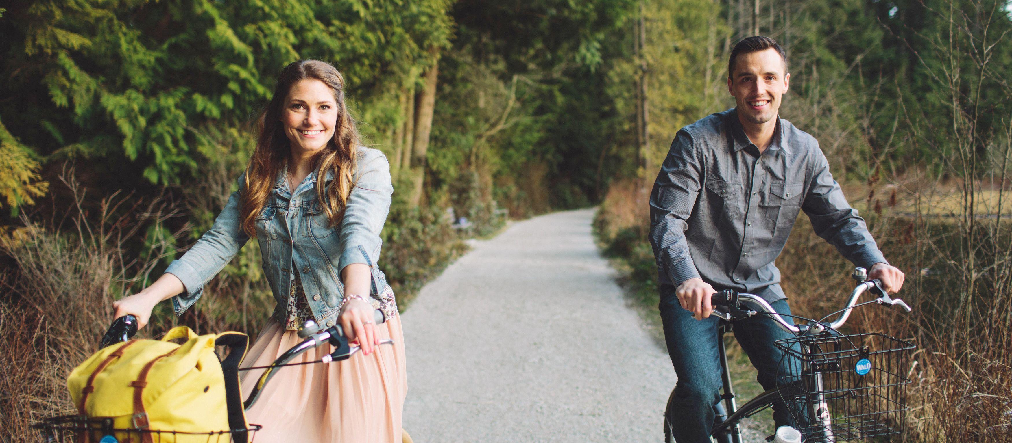 Mit dem Fahrrad unterwegs um und in Vancouver