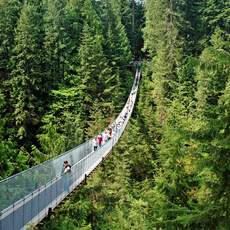 Auf der Capilano Suspension Bridge