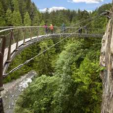 Cliffwalk im Capiloano Suspension Bridge Park, British Columbia