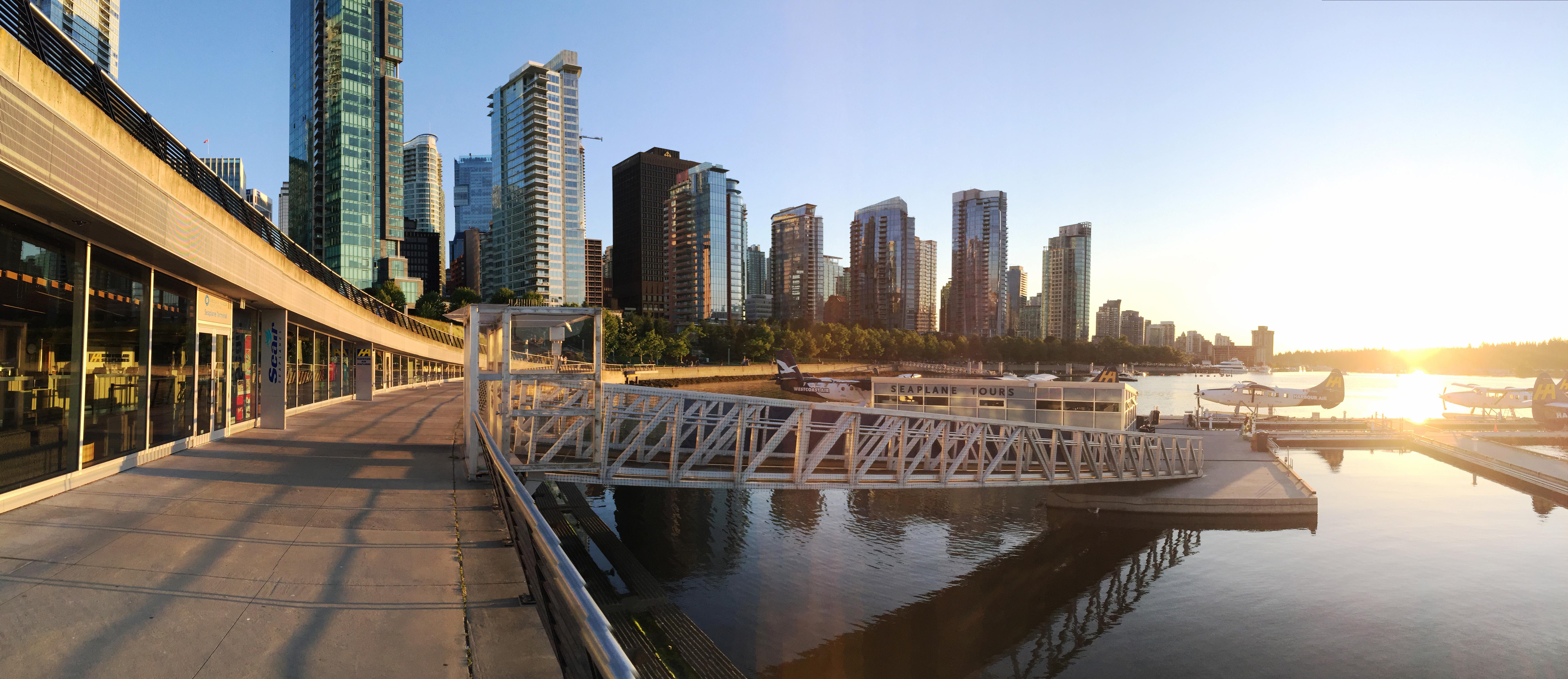 Abendstimmung am Vancouver Harbour