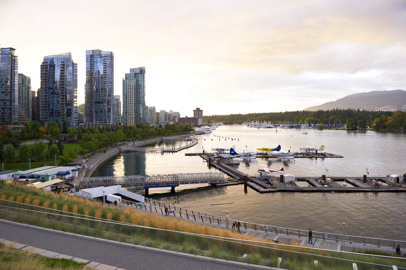 Downtown Vancouver und Coal Harbour, British Columbia