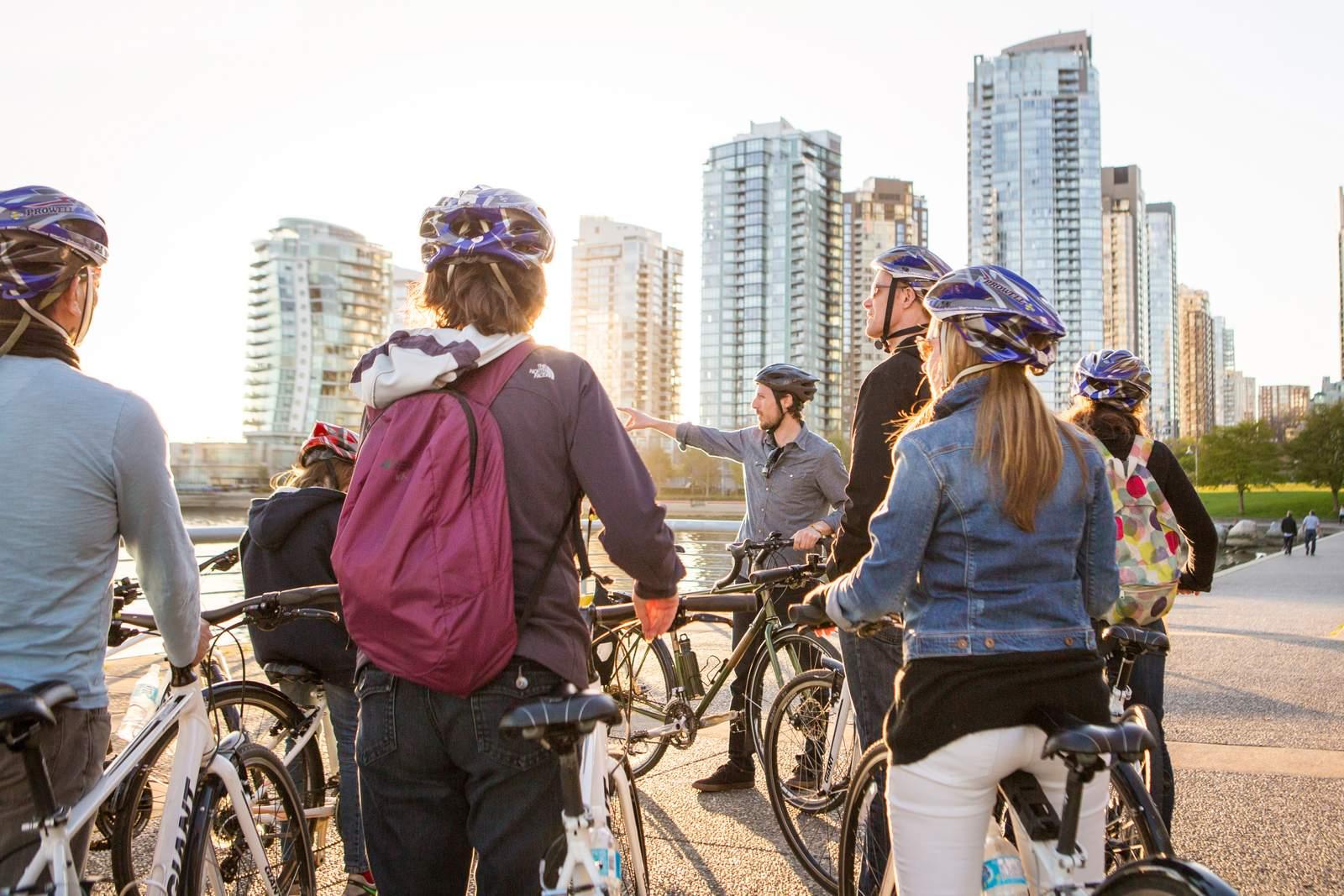 Fahrradtour durch False Creek in Vancouver, British Columbia