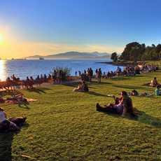 Sonnenuntergang an der English Bay in Vancouver, British Columbia