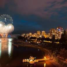 Feuerwerk in Vancouver, British Columbia