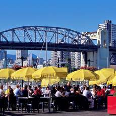 Bridges Restaurant auf Granville Island in Vancouver, British Columbia