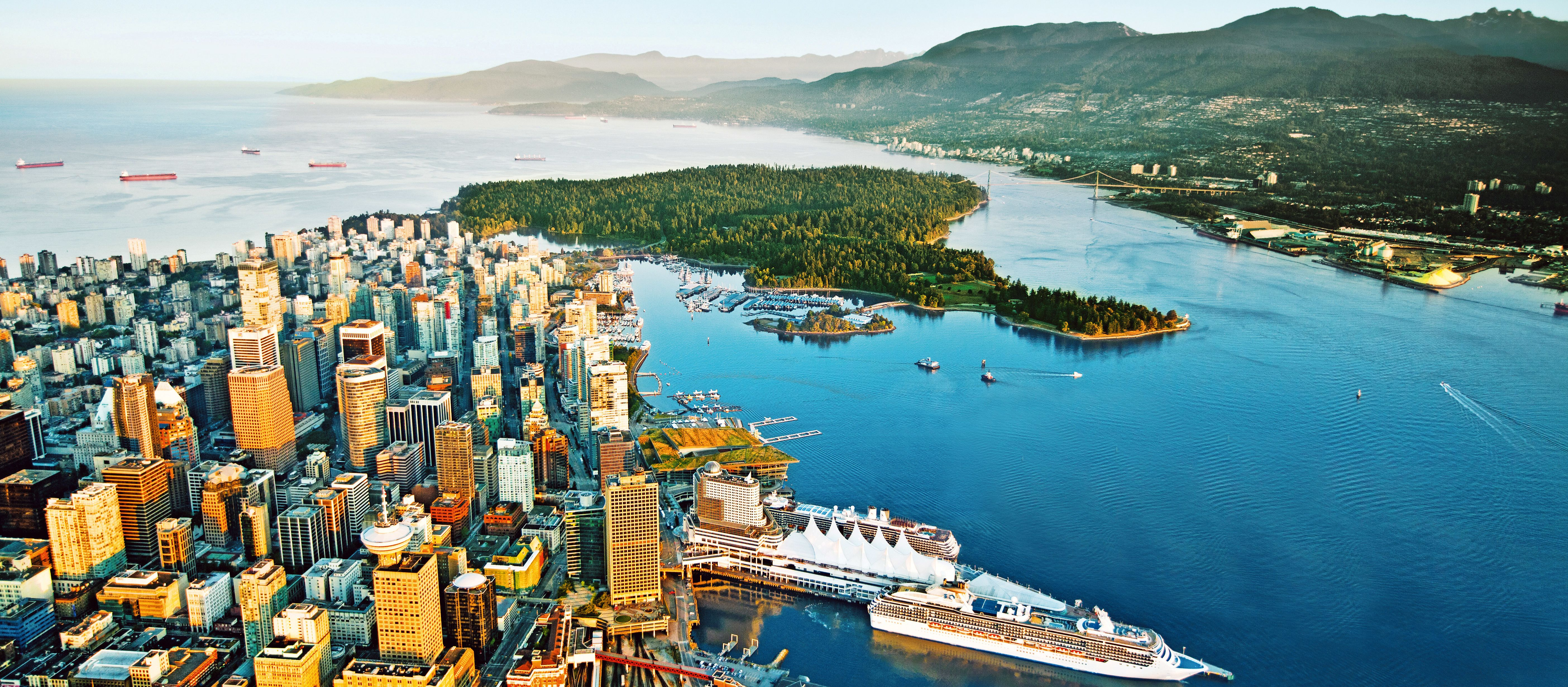 Vancouver Skyline with Cruise Ships