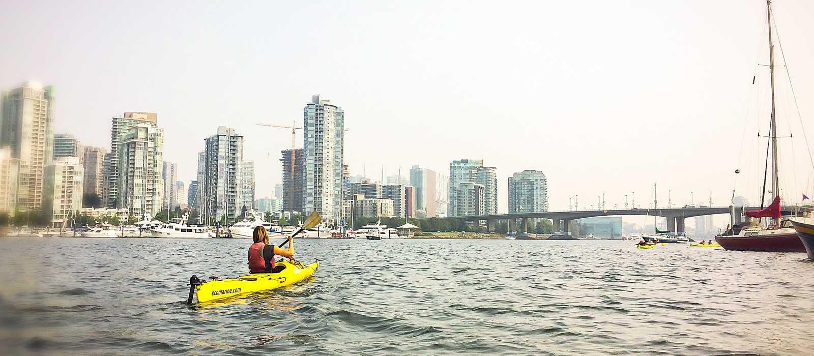Kajak fahren in der English Bay von  Vancouver