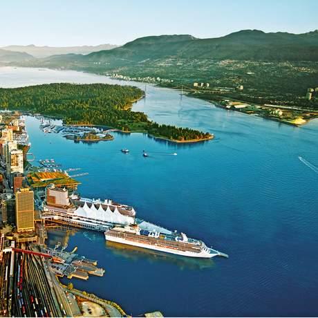 Luftansicht von Vancouver, Vancouver, British Columbia