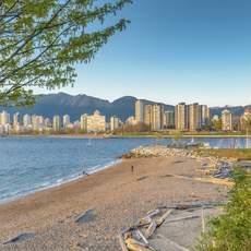 Kitsilano Beach in Vancouver, British Columbia