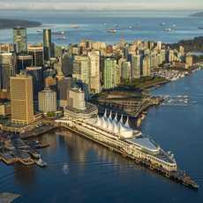 Das Canada Place Kreuzfahrtschiff Center in Vancouver