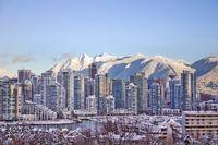 Vancouver Skyline im Winter