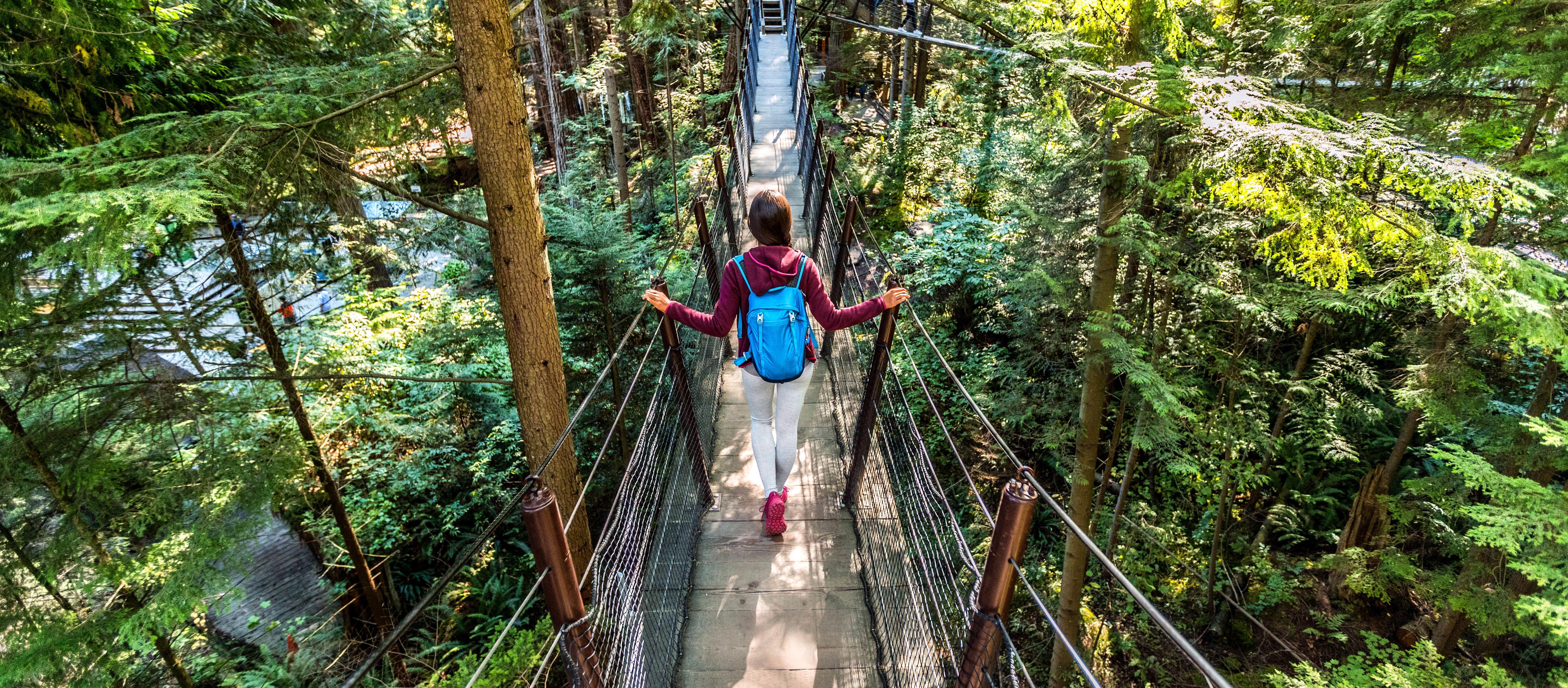 Ein Spaziergang auf der Capilano Suspension Bridge