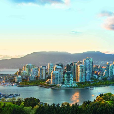 Panoramablick über Vancouver, British Columbia