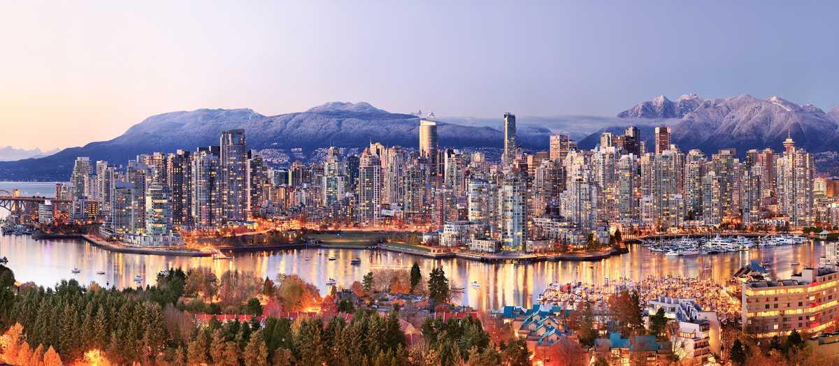 Vancouver Panorama bei Sonnenuntergang
