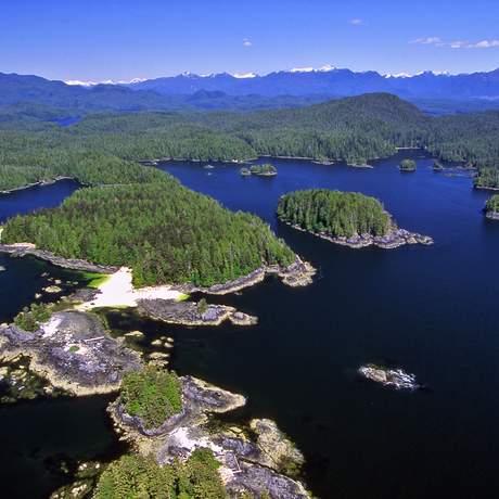 Inseln im Queen Charlotte Sound zwischen Vancouver Island und Princess Royal Island
