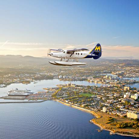 Wasserflugzeug über Victoria